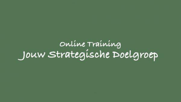Online Training jouw strategische Doelgroep