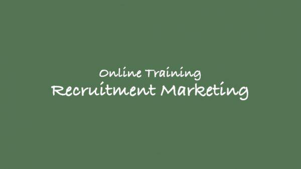 Online Training Recruitment marketing