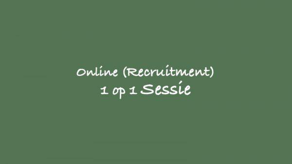 online recruitment sessie